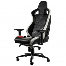 noblechairs EPIC Series Real Leather Svart/Vit/Röd
